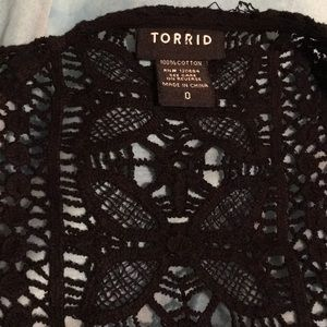 torrid Tops - Torrid black top size 0